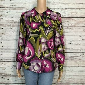 Missoni Target Button Up Shirt Abstract Floral